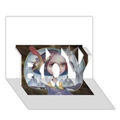 World Peace Boy 3d Greeting Card (7x5)