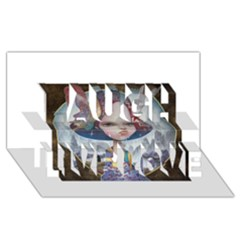 World Peace Laugh Live Love 3d Greeting Card (8x4)  by YOSUKE