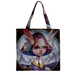 World Peace Zipper Grocery Tote Bags by YOSUKE