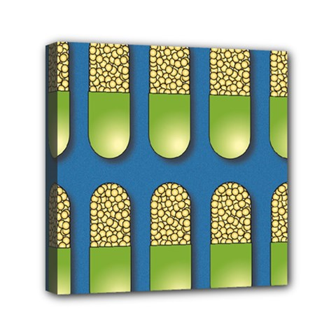 Capsule Pattern Mini Canvas 6  X 6  by theimagezone