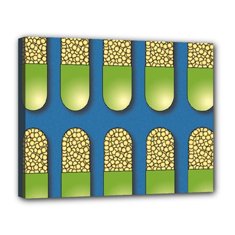 Capsule Pattern Canvas 14  X 11  by theimagezone