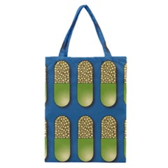 Capsule Pattern Classic Tote Bags by theimagezone