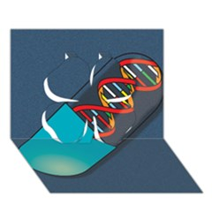 Dna Capsule Clover 3d Greeting Card (7x5)  by theimagezone