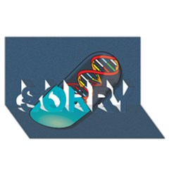 Dna Capsule Sorry 3d Greeting Card (8x4)  by theimagezone