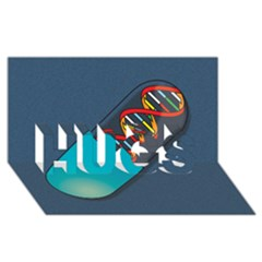 Dna Capsule Hugs 3d Greeting Card (8x4)  by theimagezone