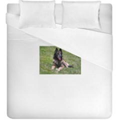 Belgian Tervuren Laying Duvet Cover (King Size) by TailWags