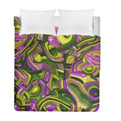 Art Deco Yellow Green Duvet Cover (twin Size) by MoreColorsinLife