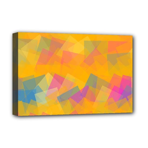 Fading Squares Deluxe Canvas 18  X 12  (stretched) by LalyLauraFLM
