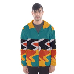 Misc Shapes In Retro Colors Mesh Lined Wind Breaker (men)