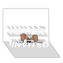 cavalier king charles spaniel Peeping  YOU ARE INVITED 3D Greeting Card (7x5)  by TailWags