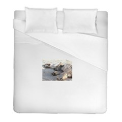 Cairn Terrier Sleeping On Beach Duvet Cover Single Side (Twin Size) by TailWags
