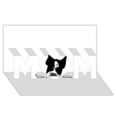 Peeping Boston Terrier MOM 3D Greeting Card (8x4)