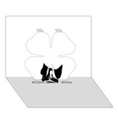 Peeping Boston Terrier Clover 3D Greeting Card (7x5)