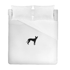 Cirneco Delletna Silhouette Duvet Cover (Twin Size) by TailWags