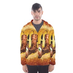 I m Waiting For You, Cute Giraffe Hooded Wind Breaker (men) by FantasyWorld7