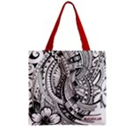 Tote - Caitlin - Zipper Grocery Tote Bag