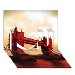 London Tower Bridge Red I Love You 3d Greeting Card (7x5)