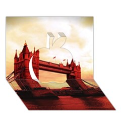 London Tower Bridge Red Apple 3d Greeting Card (7x5)