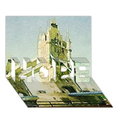 Watercolors, London Tower Bridge Hope 3d Greeting Card (7x5)