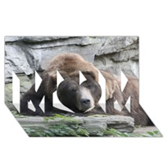 Tired Bear Mom 3d Greeting Card (8x4)  by MoreColorsinLife