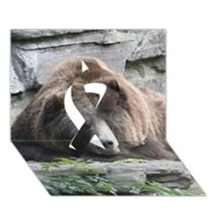 Tired Bear Ribbon 3d Greeting Card (7x5)