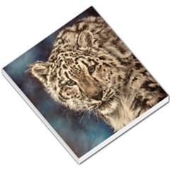 Snow Leopard Small Memo Pads by ArtByThree