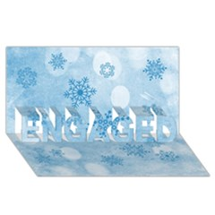 Winter Bokeh Blue Engaged 3d Greeting Card (8x4)  by MoreColorsinLife