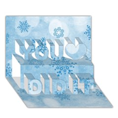 Winter Bokeh Blue You Did It 3d Greeting Card (7x5) by MoreColorsinLife