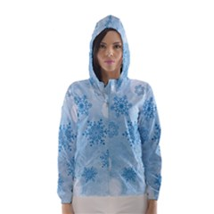 Winter Bokeh Blue Hooded Wind Breaker (women)	 by MoreColorsinLife