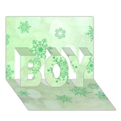 Winter Bokeh Green Boy 3d Greeting Card (7x5)