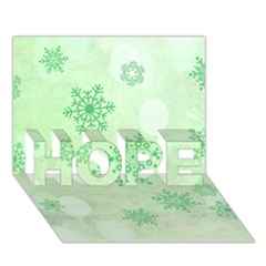 Winter Bokeh Green Hope 3d Greeting Card (7x5)