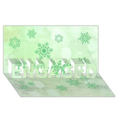 Winter Bokeh Green Engaged 3d Greeting Card (8x4)