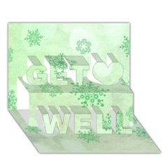 Winter Bokeh Green Get Well 3d Greeting Card (7x5)  by MoreColorsinLife
