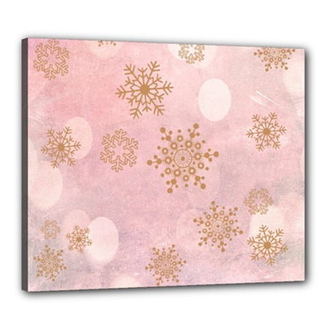 Winter Bokeh Pink Canvas 24  X 20  by MoreColorsinLife