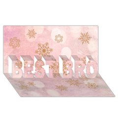 Winter Bokeh Pink Best Bro 3d Greeting Card (8x4)  by MoreColorsinLife