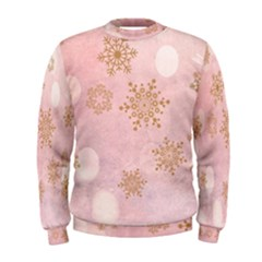 Winter Bokeh Pink Men s Sweatshirts by MoreColorsinLife