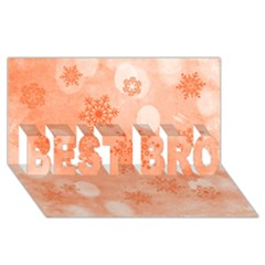 Winter Bokeh Red Best Bro 3d Greeting Card (8x4)  by MoreColorsinLife