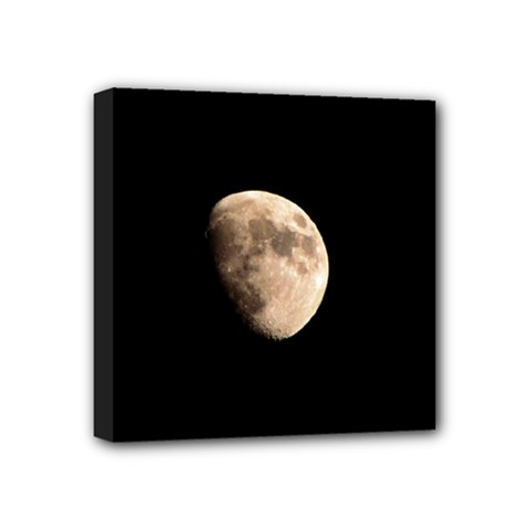 Half Moon Mini Canvas 4  X 4  by timelessartoncanvas