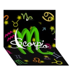 Scorpio Floating Zodiac Name Circle 3D Greeting Card (7x5)  by theimagezone