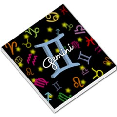 Gemini Floating Zodiac Sign Small Memo Pads by theimagezone