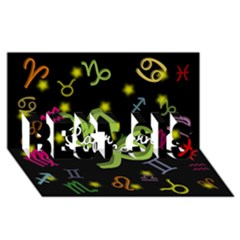 Capricorn Floating Zodiac Name Best Sis 3d Greeting Card (8x4)  by theimagezone