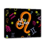 Leo Floating Zodiac Name Deluxe Canvas 14  x 11
