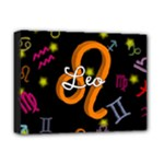 Leo Floating Zodiac Name Deluxe Canvas 16  x 12