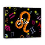 Leo Floating Zodiac Name Deluxe Canvas 20  x 16