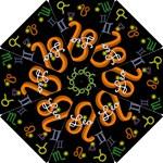 Leo Floating Zodiac Name Hook Handle Umbrellas (Small)