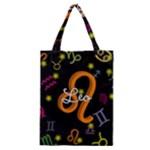 Leo Floating Zodiac Name Classic Tote Bags