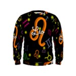 Leo Floating Zodiac Name Boys  Sweatshirts