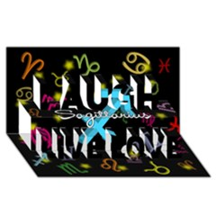Sagittarius Floating Zodiac Name Laugh Live Love 3D Greeting Card (8x4)  by theimagezone