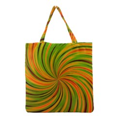 Happy Green Orange Grocery Tote Bags by MoreColorsinLife