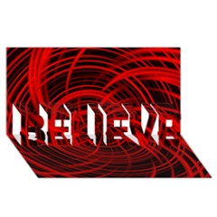 Happy, Black Red Believe 3d Greeting Card (8x4)  by MoreColorsinLife